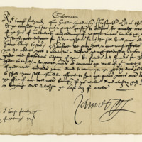 Letter by James, Earl of Arran, Governor, to John Wemyss of that Ilk to meet him at Dumfries with his following. Linlithgow, 31st October 1546