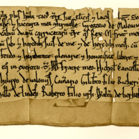 Charter by King William the Lion to Gregory of Melville, of the lands of Granton, in exchange for lands in Ednam, 1165-1170