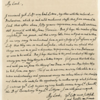 Letter by John Tillotson, Archbishop of Canterbury, to George, Viscount of Tarbet, 24th September 1692