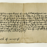 Obligation by Archibald, Earl of Angus, to Robert Graham of Fintry, respecting the lands of Earl Stradichty. Abernethy, 22nd April 1484
