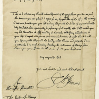 Letter by James Sharp, Archbishop of St Andrews, to David, second Earl of Wemyss, 23rd August 1675