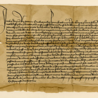 Charter by King James II to Humphrey de Abercromby, of the lands of Herthill. Aberdeen, 11th November 1457