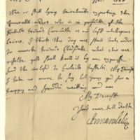 Letter by James, Earl of Annandale, to Henrietta, Countess of Annandale, 28th November 1666