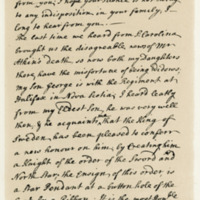 Letter by George, third Earl of Cromarty, 30th January 1762