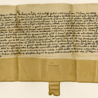 Charter by Walter Lesley, Lord of Ross, to Andrew Mercer, of the lands of Faithlie. Elgin, 18th August 1381